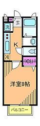 東京都北区豊島7丁目の賃貸アパートの間取り