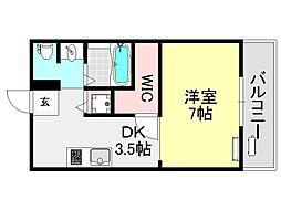 阪東ハイツ[2O2号室号室]の間取り