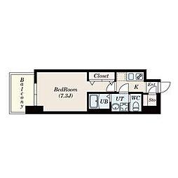 名古屋市営鶴舞線 大須観音駅 徒歩13分の賃貸マンション 5階1Kの間取り
