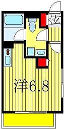 エミネンス船橋II[2階]の間取り