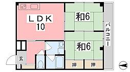 兵庫県相生市陸本町の賃貸マンションの間取り