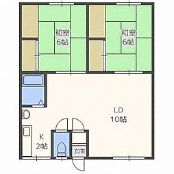レジデンス39[2階]の間取り