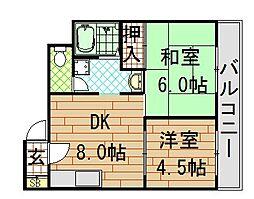 メゾンドール若江北[302号室]の間取り