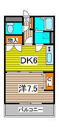 エクセル伸栄[2階]の間取り