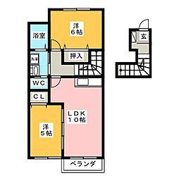 シャイニングスター B棟[2階]の間取り