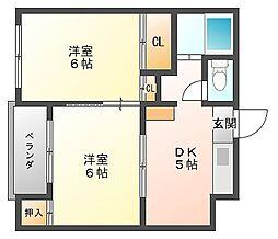 オーリン6号ビル[4階]の間取り