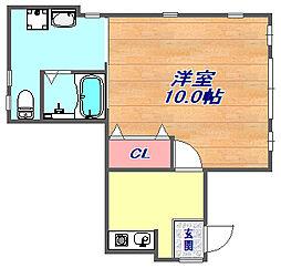 松山ビル[1階号室]の間取り