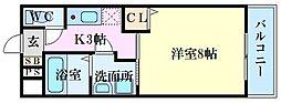 PLEIN SOLEIL 東霞町 3階1Kの間取り