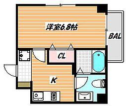 JR京葉線 舞浜駅 徒歩18分の賃貸マンション 2階1Kの間取り