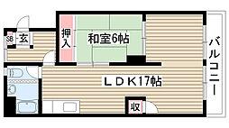 愛知県名古屋市名東区藤見が丘の賃貸マンションの間取り