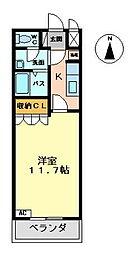 ヌーベルマリー[1階]の間取り