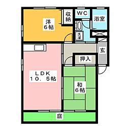 イスタナイマオカ D棟[1階]の間取り