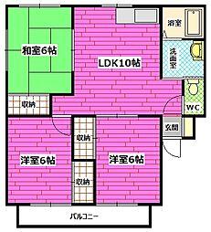 広島県広島市安芸区矢野東6丁目の賃貸マンションの間取り