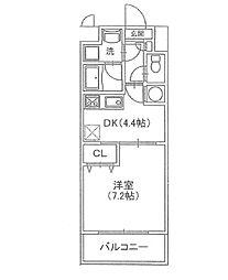 メゾン・エスポR[1階]の間取り