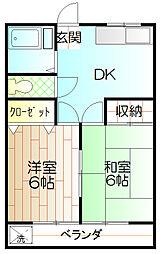東豊ハイツ[306号室]の間取り