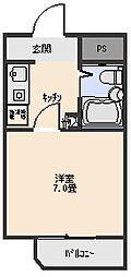 アビタシオン[203号室]の間取り