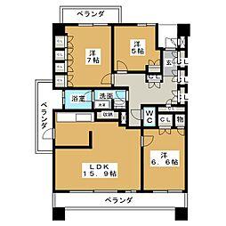 プライムメゾン矢田南[6階]の間取り