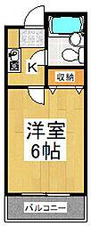 ユニオンK[2階]の間取り