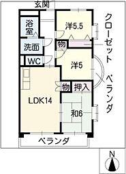 NOBLE[5階]の間取り