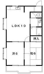 ニューアズマ[1階]の間取り