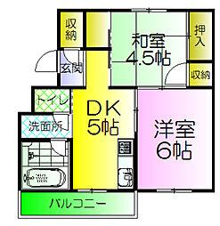 グリーンハイム堺II[4階]の間取り