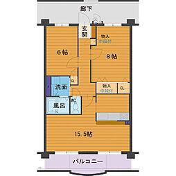 ハートフルマンション Villa Luna[A103号室]の間取り