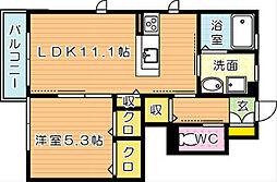 エスタシオンI[1階]の間取り