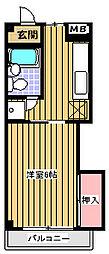 メゾングリーンライフ[3階]の間取り