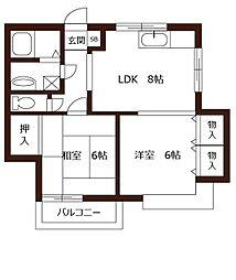 シャンコート[1階]の間取り