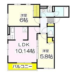 なつめハウス[2階]の間取り