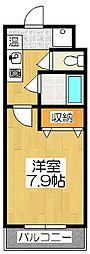 メディナ東寺[604号室]の間取り