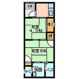 兵庫県尼崎市南塚口町7丁目の賃貸アパートの間取り