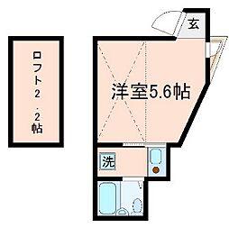 東京都大田区蒲田4丁目の賃貸アパートの間取り