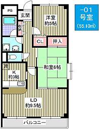 プロニティ江川[3階]の間取り