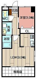 (仮)北方三丁目ペット可新築アパート[103号室]の間取り