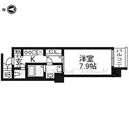 レジデンス京都ゲートシティ507[5階]の間取り