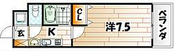 フル−ル林[2階]の間取り