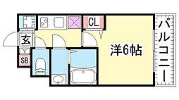 GP神戸ステーション[1002号室]の間取り