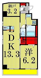 A8[401号室]の間取り
