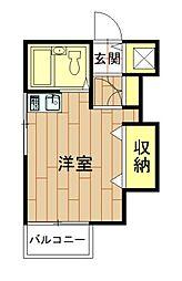 神奈川県川崎市中原区上丸子天神町の賃貸アパートの間取り
