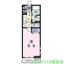 トロバドール中吉野[2階]の間取り