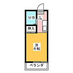 落合第2ビル[2階]の間取り