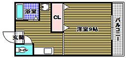 ペドラーム帝塚[2階]の間取り