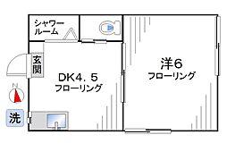 北新宿3丁目アパート[101号室]の間取り