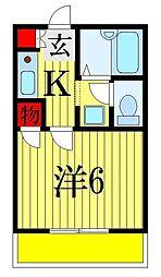 カーサハザマ[2階]の間取り