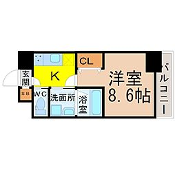 愛知県名古屋市中村区香取町1の賃貸マンションの間取り