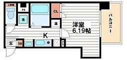 大阪府大阪市中央区備後町1丁目の賃貸マンションの間取り