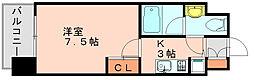 プレスタイル博多駅南ノース[3階]の間取り