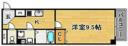 大阪府大阪市東淀川区小松1の賃貸マンションの間取り