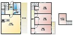 [タウンハウス] 兵庫県明石市大久保町大久保町 の賃貸【兵庫県 / 明石市】の間取り